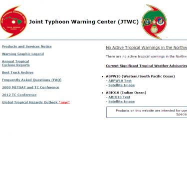 Joint Typhoon Warning Center  JTWC 1