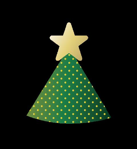 クリスマスツリーの帽子